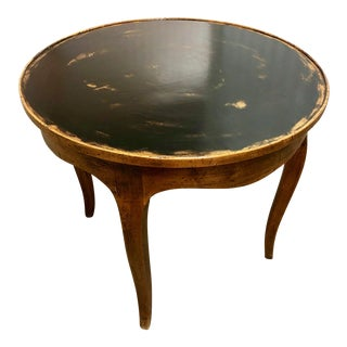 Italian Chestnut Side Table With Painted Top