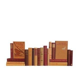 Midcentury Caramel Apple Book Set For Sale