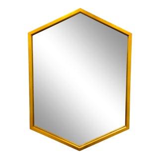 Contemporary Modern Gilded Hexagonal Mirror For Sale