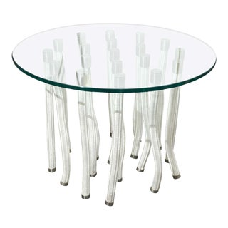 Round Glass Coffee Table by F. Novembre For Sale