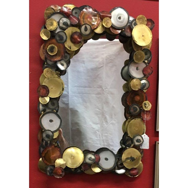 """""""Raindrops"""" rectangular mirror by Curtis Jere (Curtis Freiler and Jerry Fels) for Artisan House. The decorations are not..."""