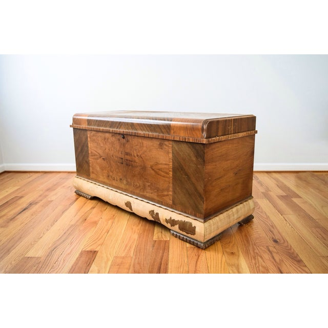 Art Deco Lane Cedar Chest Trunk - Image 3 of 9