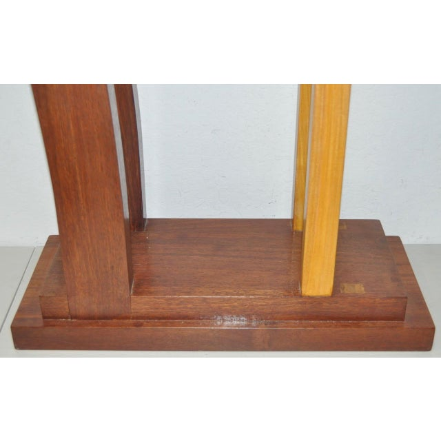Modern Dia Ates Hardwood Pedestal For Sale - Image 3 of 8