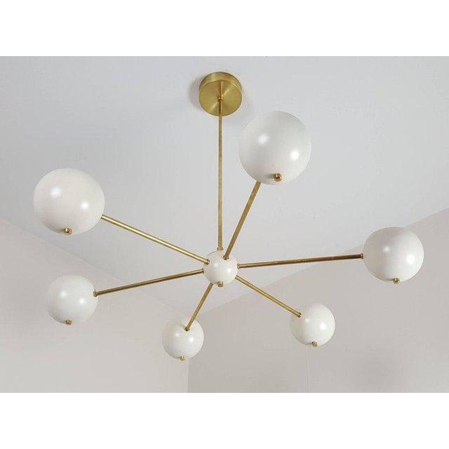 """Aluminum Custom """"Aster"""" Pendant in Brass + Enamel by Blueprint Lighting For Sale - Image 7 of 8"""