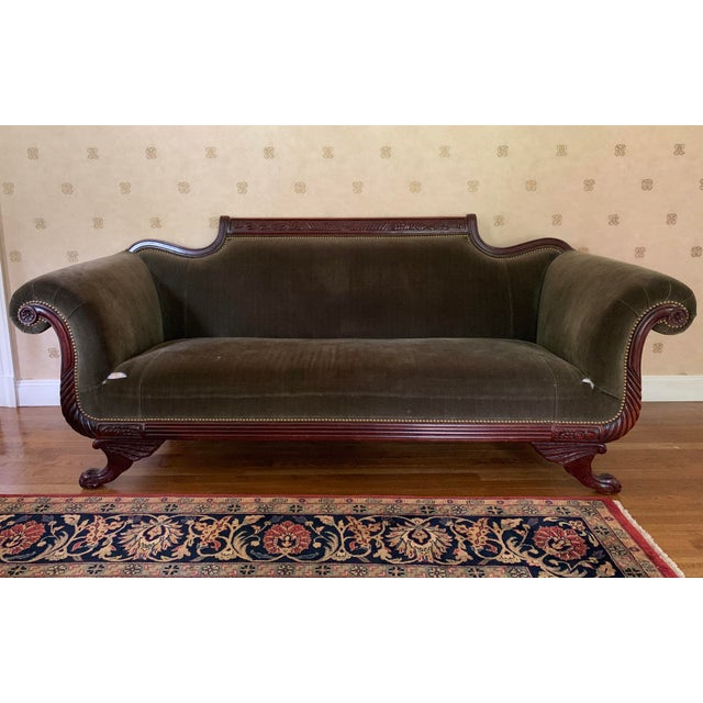 21st Century Vintage Tufted-Back Sofa For Sale - Image 11 of 11