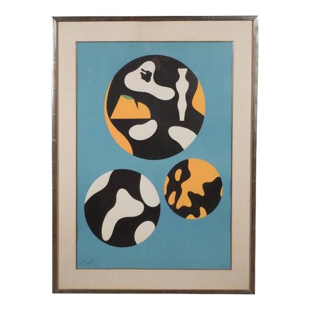 "Jean Arp ""De La Famille Des Etoiles"" 'A. 359' Lithograph Printed in Colors, 1965 For Sale"