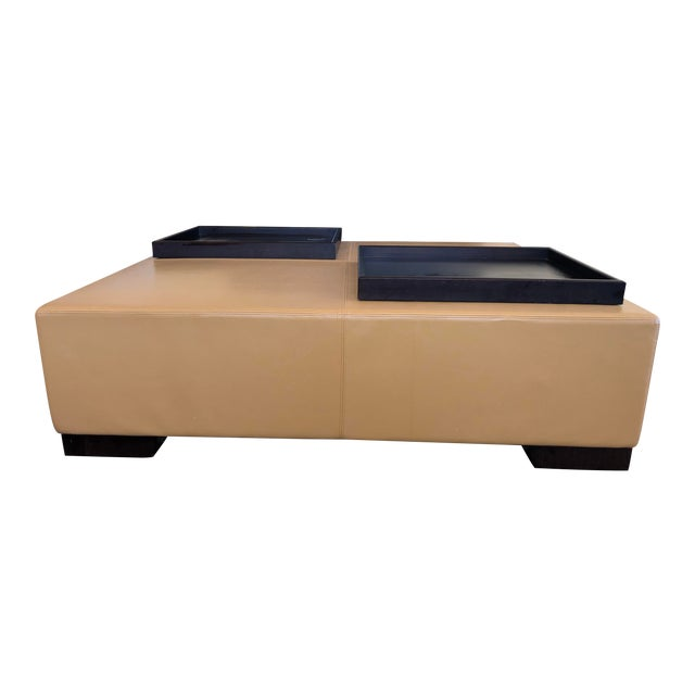 Modern Holly Hunt's Christian Liaigre Galet Ottoman For Sale