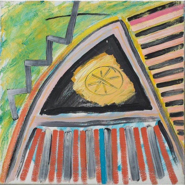 1980s Morten Tøgern Compositions Oil Painting on Canvas, 1987 - Collection of 5 For Sale - Image 5 of 6