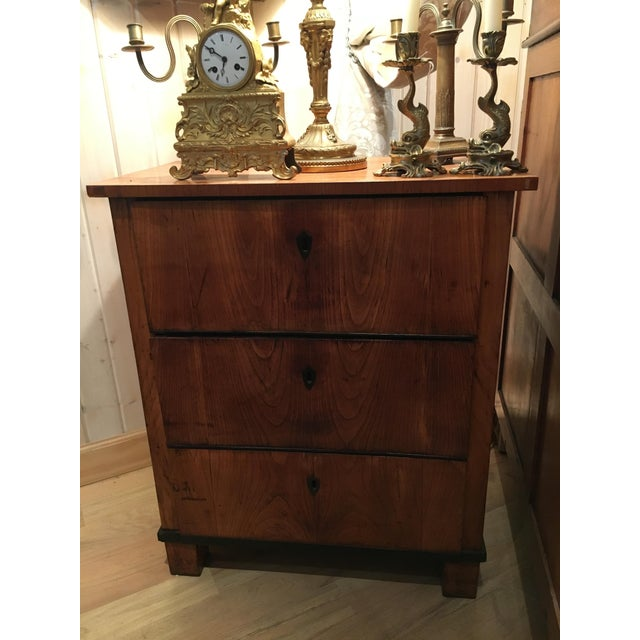 Fruitwood Italian Fruitwood Neoclassical Three-drawer Chest For Sale - Image 7 of 10