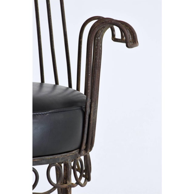 Metal French Mid-Century Cap d'Ail Chair by Mathieu Matégot, 1950's For Sale - Image 7 of 11