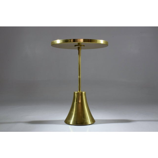 Not Yet Made - Made To Order Zel-II-I Contemporary Brass Mosaic Side Table, Flow Collection For Sale - Image 5 of 10