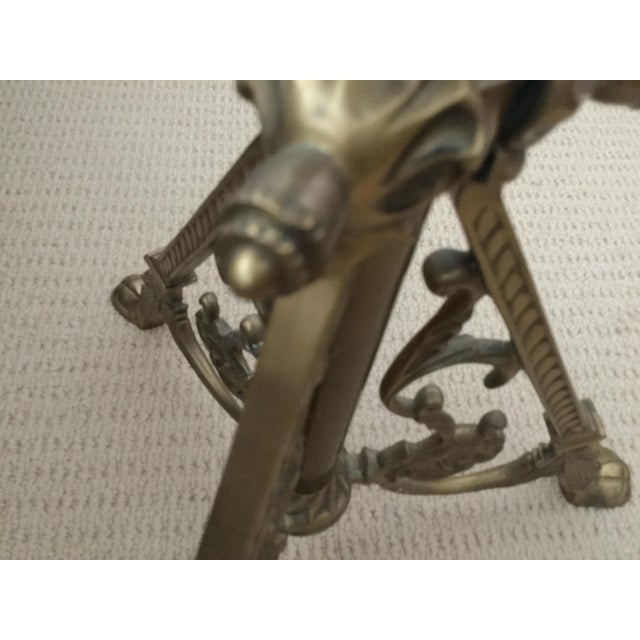Brass & Black Marble Side Table - Image 7 of 10