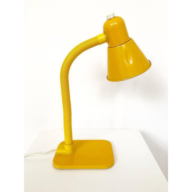 French Yellow Desk Lamp - Image 3 of 10