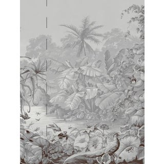 Casa Cosima Grey Brasília Wallpaper Mural - Sample For Sale