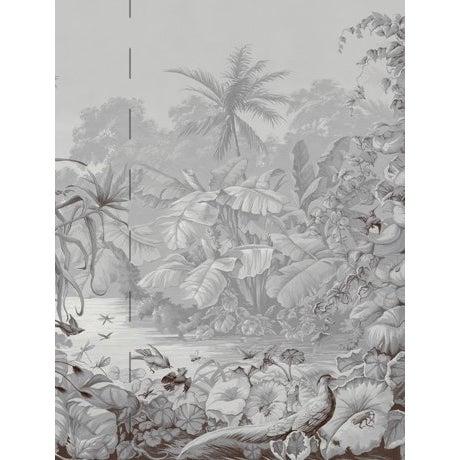 Casa Cosima Grey Brasília Wallpaper Mural - Sample For Sale