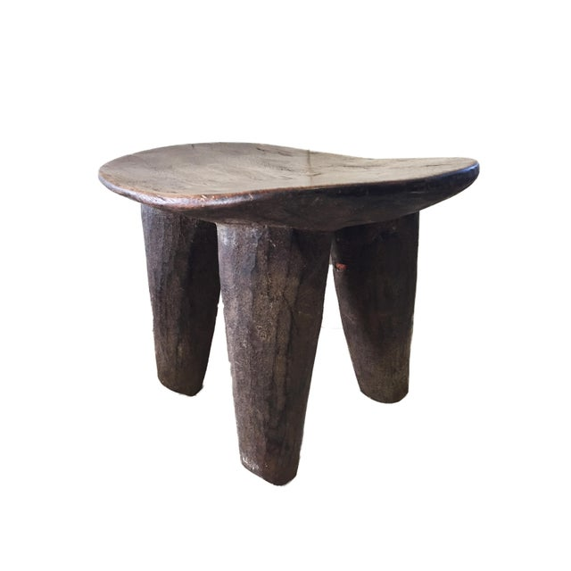 """Abstract African Senufo Wood Milk Stool I . Coast 12"""" W For Sale - Image 3 of 6"""