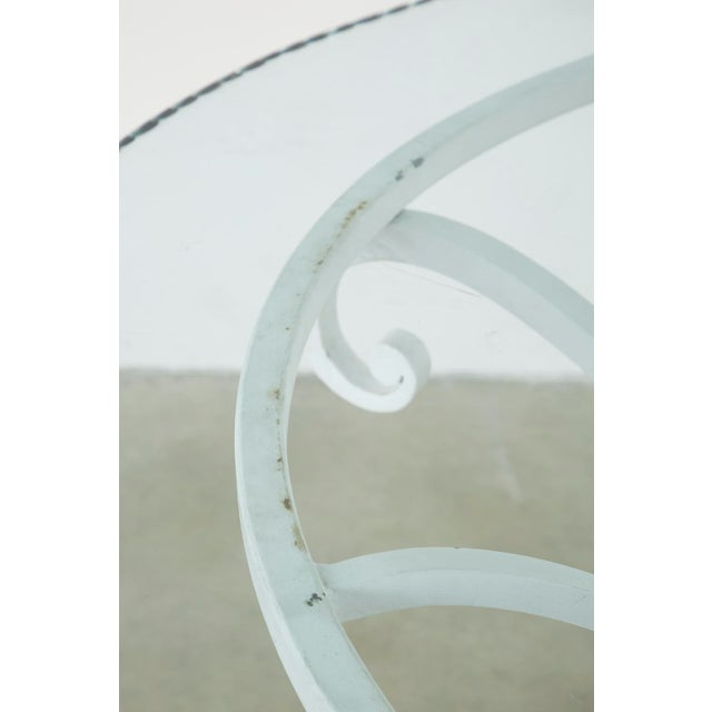 Oval Wrought Iron Painted Garden Dining Table For Sale In San Francisco - Image 6 of 13