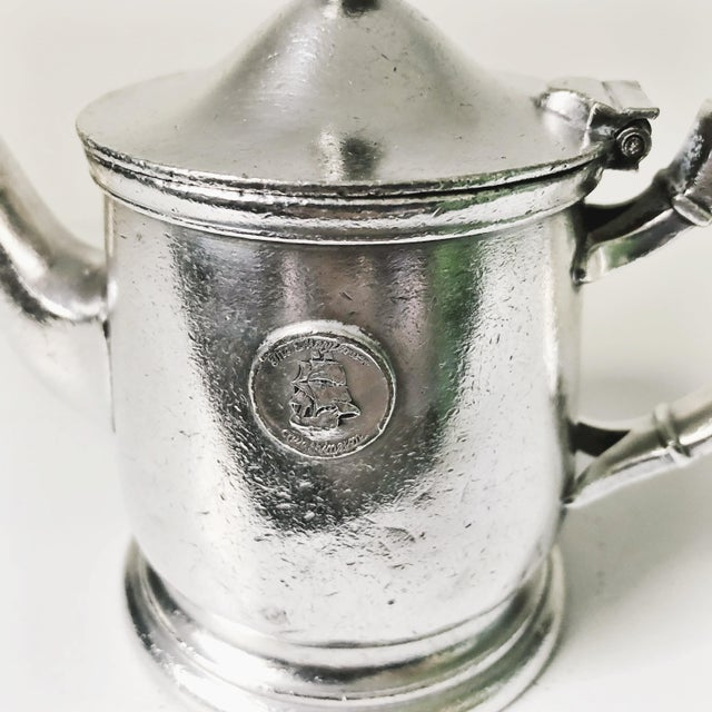 Mid-Century Modern 1947 Silver Plate Teapot From the Mayflower Washington DC For Sale - Image 3 of 7