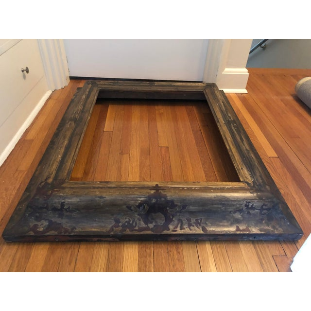 Antique 17th Century Spanish Baroque Picture Frame. Great candidate for a mirror! Aged and distressed as shown with a...