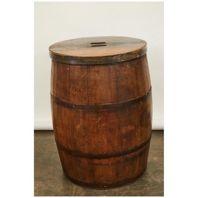 American 19th C. American Barrel For Sale - Image 3 of 5