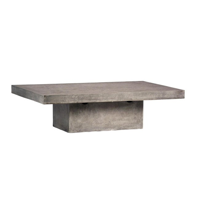 Contemporary Outdoor Cement Resin Coffee Table For Sale - Image 3 of 3