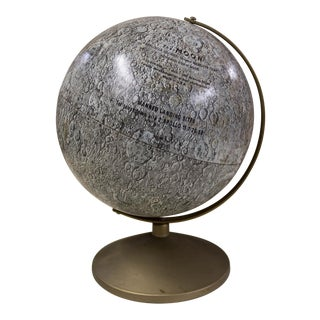 1969 Antique Space Age First Landing Moon Globe