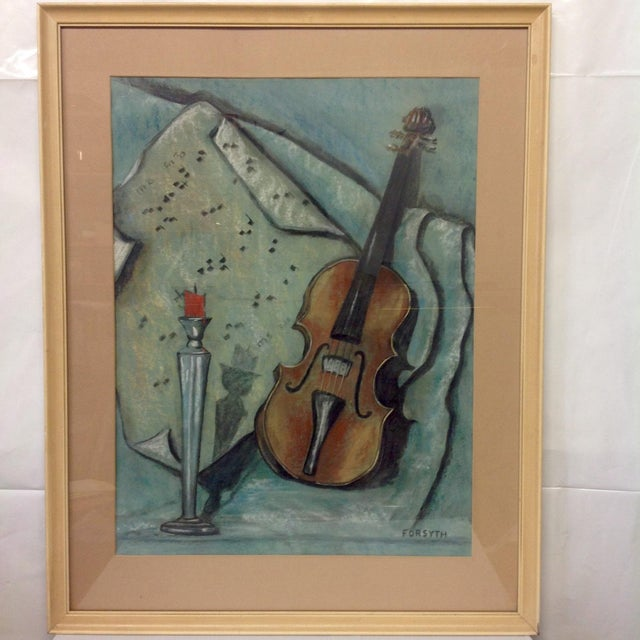 Original Pastel in shades of Aqua and greens. On Strathmore and signed by Forsyth. We ALWAYS accept reasonable offers....