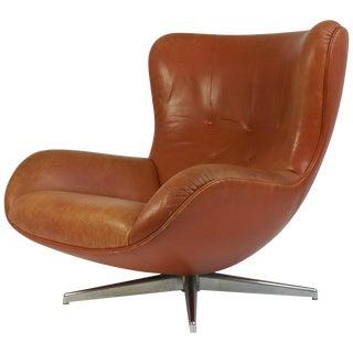 Swivel Lounge Chair by Illum Wikkelsø For Sale