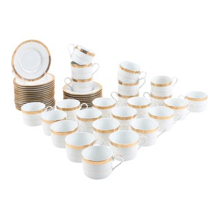 Vintage American Atelier China Tea Set - 48 Piece For Sale