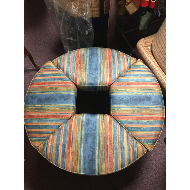 1970's Vintage Walnut Adjustable Games Table & Stools- 5 Pieces For Sale - Image 9 of 11