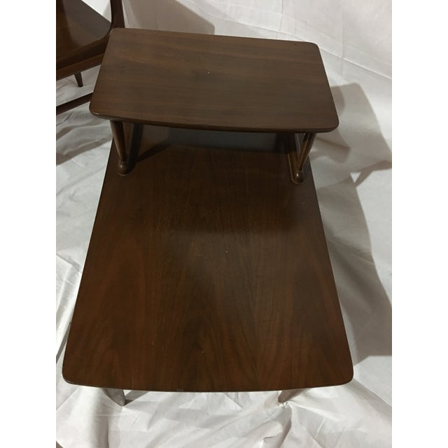 Danish Mid-Century Walnut End Tables - A Pair For Sale In Atlanta - Image 6 of 6