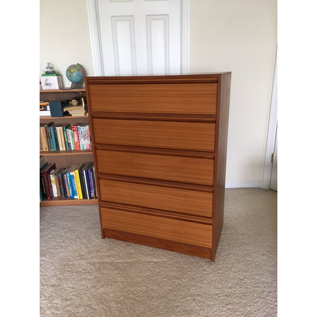 Mid-Century Danish modern teak dove-tail drawer of chest from Denmark. Excellent condition. Minor consistent with age and...