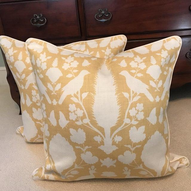 Linen Schumacher Chenonceau Linen Pillows - A Pair For Sale - Image 7 of 7