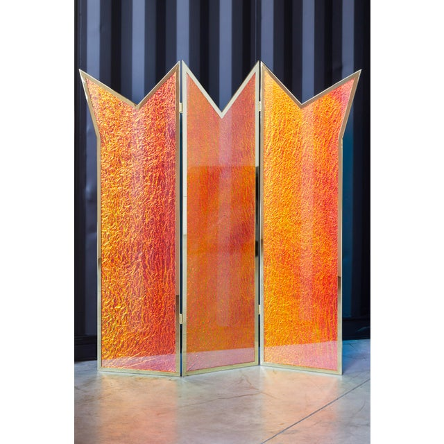 Crazy Crown Screen/Room Divider by Artist Troy Smith - Contemporary Design - Artist Proof - Custom Furniture Crazy glass...