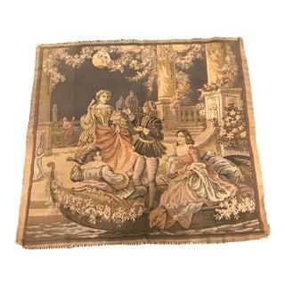 Vintage Italian Gondola Ride Tapestry For Sale