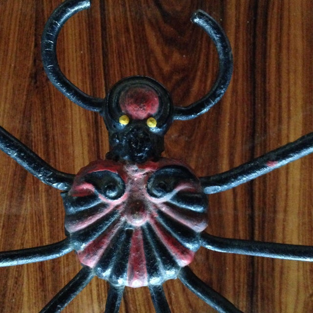 Black Cast Iron Spider For Sale - Image 8 of 8
