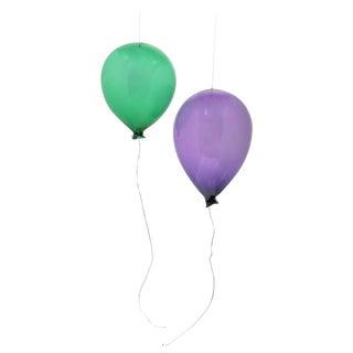 Set of Art Glass Balloon Sculptures For Sale