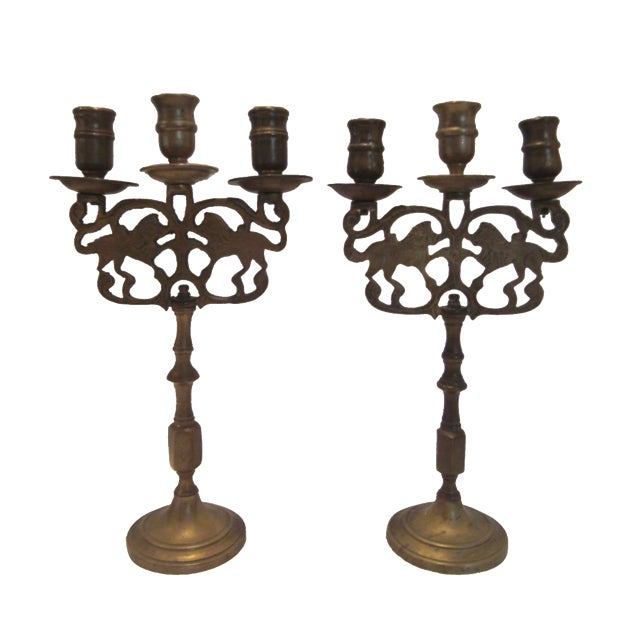 Antique Chinese Candelabrum - A Pair - Image 1 of 8