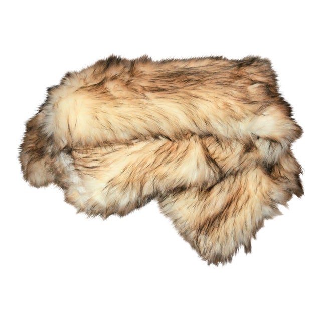 Wild Mannered Faux Fur Bleached Finn Throw For Sale