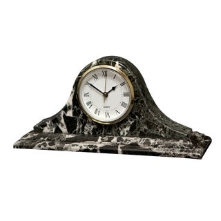 Black Marble Mantle Clock