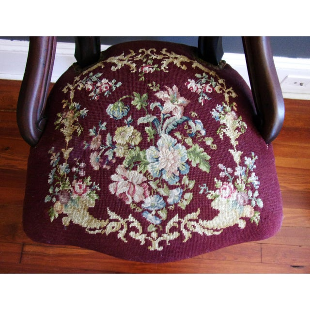 Late 19th Century Victorian Carved Mahogany Balloon Back Chair For Sale - Image 6 of 9