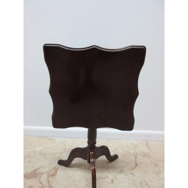 Bombay Company Cherry Lamp End Table Pedestal Stand - Image 7 of 11