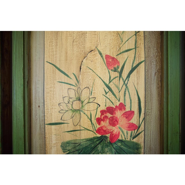Chinese Painted Door Panels - 4 Pieces For Sale - Image 9 of 13