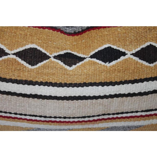 These most interesting colors and unusual pattern weaving pillows are in very good condition. Sold as a group of three.