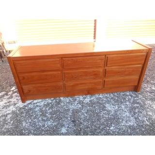 1980s Danish Modern Teak 9 Drawer Long Dresser Preview