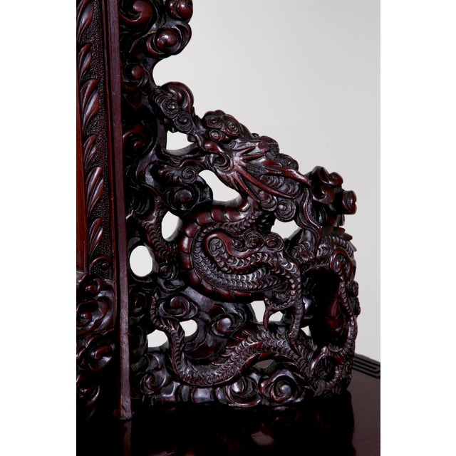 Early 20th Century Antique Japanese Carved Chest & Mirror For Sale - Image 5 of 9