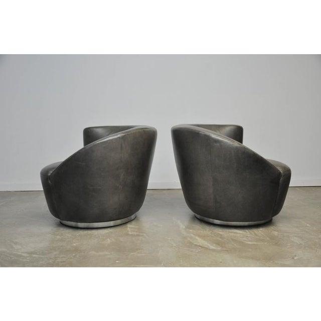 Mid-Century Modern Vladimir Kagan Nautilus Swivel Chairs For Sale - Image 3 of 7