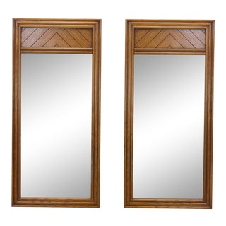 Pair of Century Walnut Mirrors For Sale