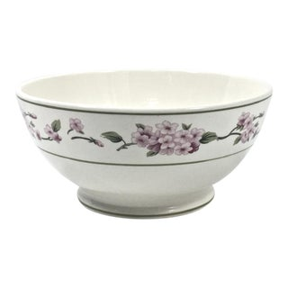 Botanical Ceramic Serving Bowl For Sale