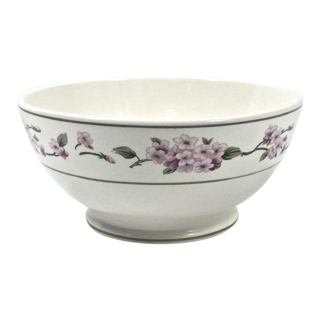 Botanical Ceramic Serving Bowl For Sale